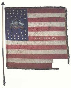 123rd Pennsylvania Battle Flag