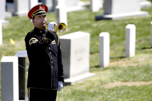 Taps Being Played at Arlington National Cemetery
