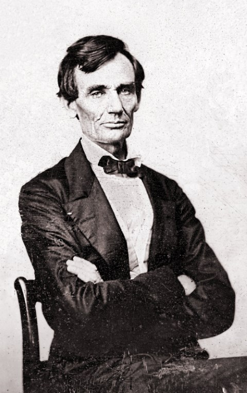 Lincoln by Butler, Last Beardless Picture, 1860