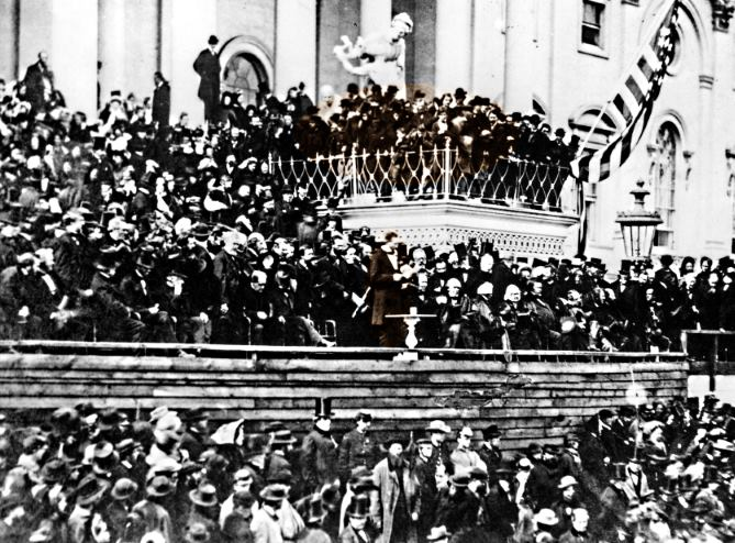 Lincoln Delivering The Speech at His Second Inauguration