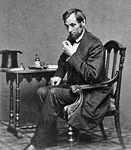 Lincoln in Reflective Pose, 1861