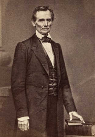 First Abraham Lincoln Picture by Brady, 1860