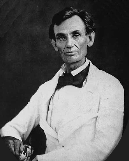 Lincoln White Coat Beardstown 1858