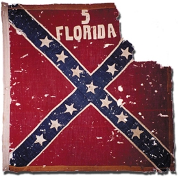 5th Florida Infantry Confederate Battle Flag