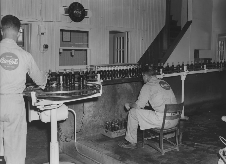 Coca Cola bottling line 1958