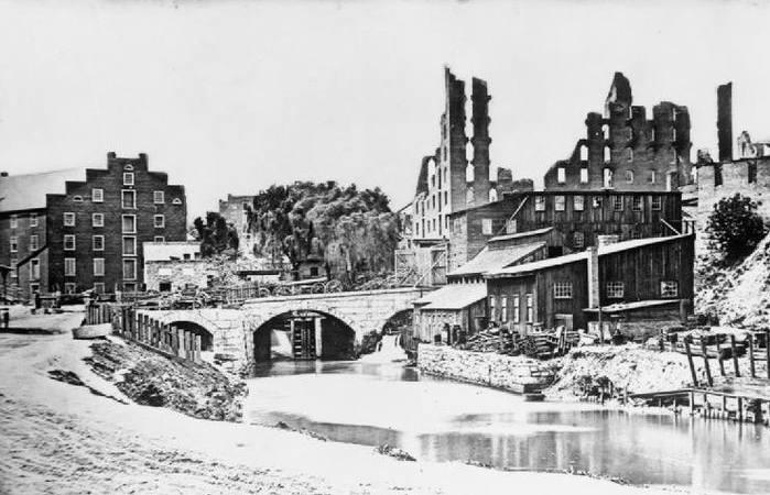 Ruins in Richmond after Civil War