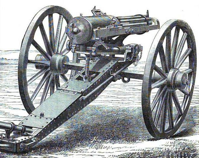 machine guns in the civil war