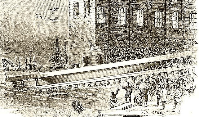Launch of the USS Monitor
