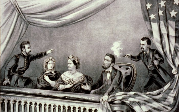 Assassination of Abraham Lincoln by John Wilkes Booth, April 14, 1865