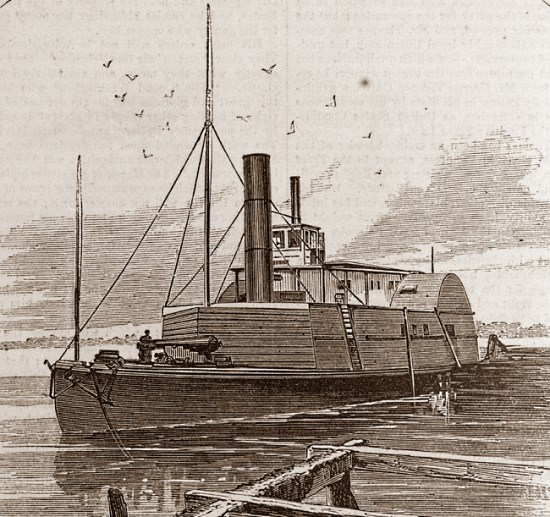 The gunboat Planter that Robert Smalls captured and commanded.