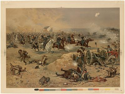 Battle of Opequon.  Sheridan's final charge at Winchester